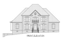 European Exterior - Front Elevation Plan #1054-82