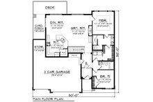 Contemporary Floor Plan - Main Floor Plan Plan #70-1489