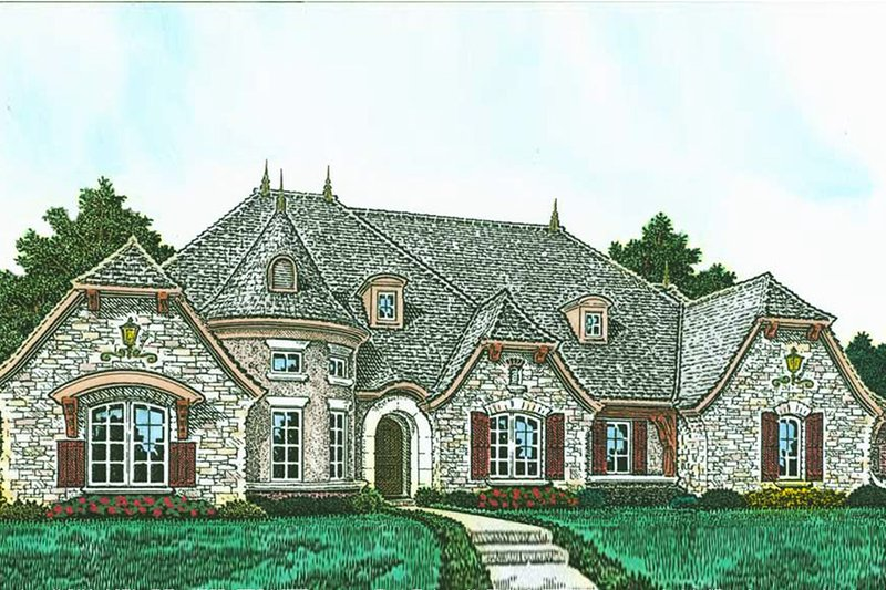 European Exterior - Front Elevation Plan #310-1295
