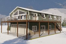 Architectural House Design - Traditional Exterior - Front Elevation Plan #1060-95