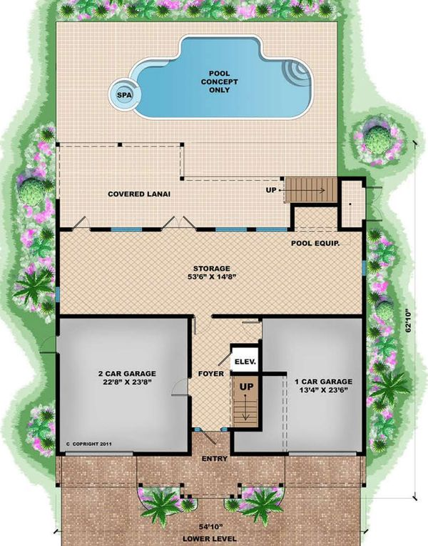 Beach Floor Plan - Main Floor Plan Plan #27-566
