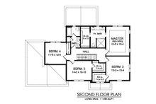 Traditional Floor Plan - Upper Floor Plan Plan #1010-245
