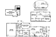Cottage Floor Plan - Main Floor Plan Plan #124-868