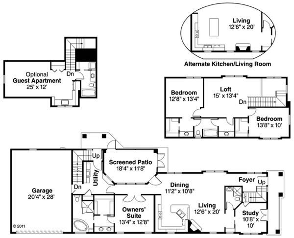 House Plan Design - Cottage Floor Plan - Main Floor Plan #124-868