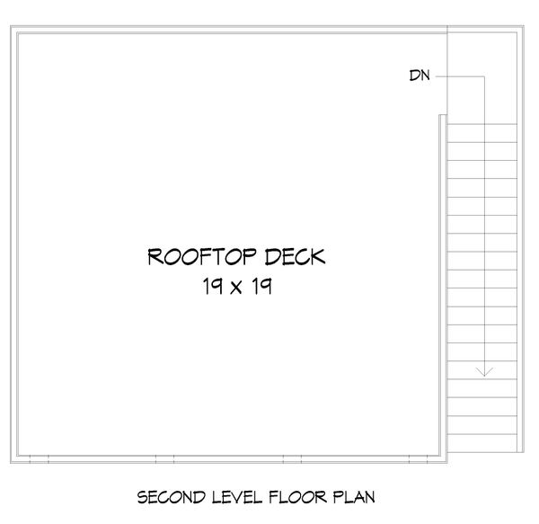 Contemporary Floor Plan - Upper Floor Plan Plan #932-111