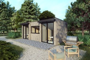 Modern Exterior - Other Elevation Plan #549-32