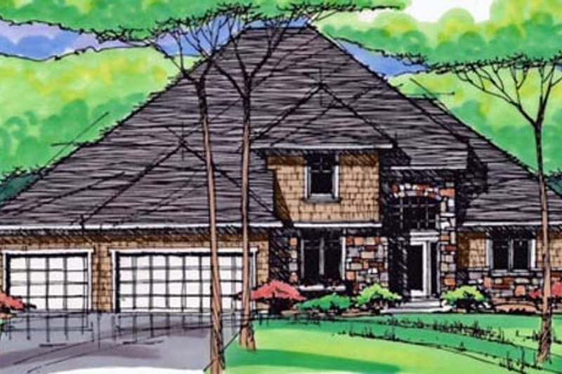 Traditional Exterior - Front Elevation Plan #51-405 - Houseplans.com