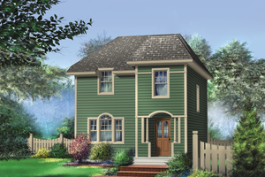 Country Exterior - Front Elevation Plan #25-4728