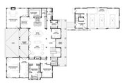 Country Style House Plan - 4 Beds 4.5 Baths 4852 Sq/Ft Plan #928-1 Floor Plan - Main Floor Plan