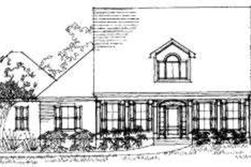 Southern Exterior - Front Elevation Plan #325-122 - Houseplans.com