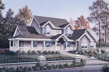 Home Plan - Traditional Exterior - Front Elevation Plan #57-306