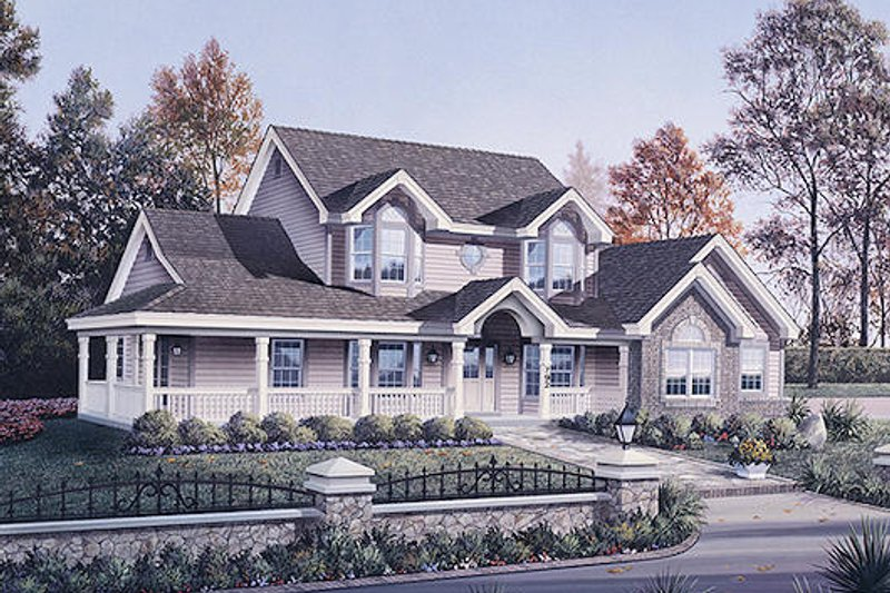 Traditional Exterior - Front Elevation Plan #57-306 - Houseplans.com