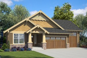 Ranch Exterior - Front Elevation Plan #48-949