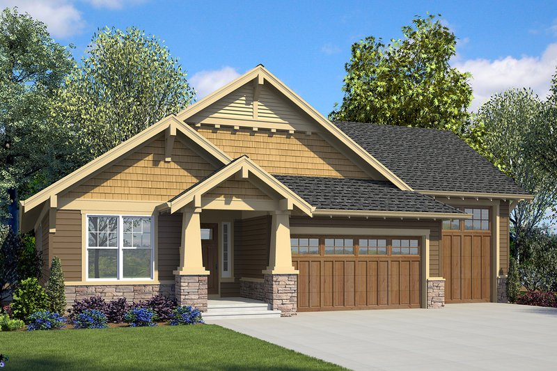 Architectural House Design - Ranch Exterior - Front Elevation Plan #48-949