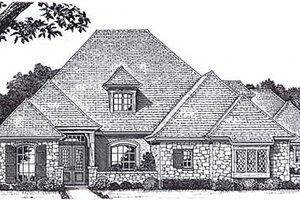 European Exterior - Front Elevation Plan #310-940