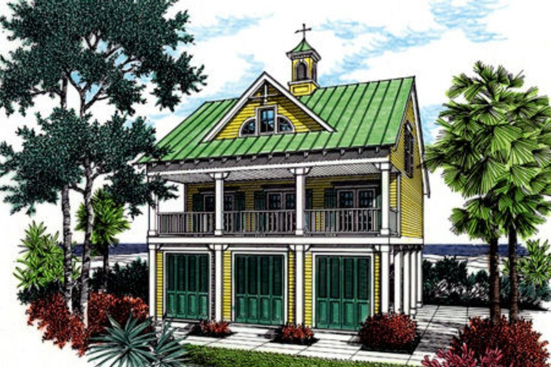 Cottage Exterior - Front Elevation Plan #45-354