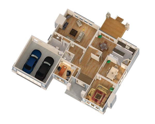 Traditional Floor Plan - Main Floor Plan Plan #25-4629