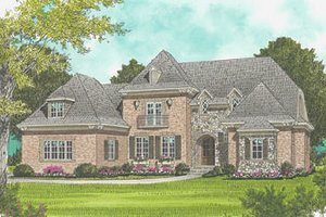 European Exterior - Front Elevation Plan #413-121