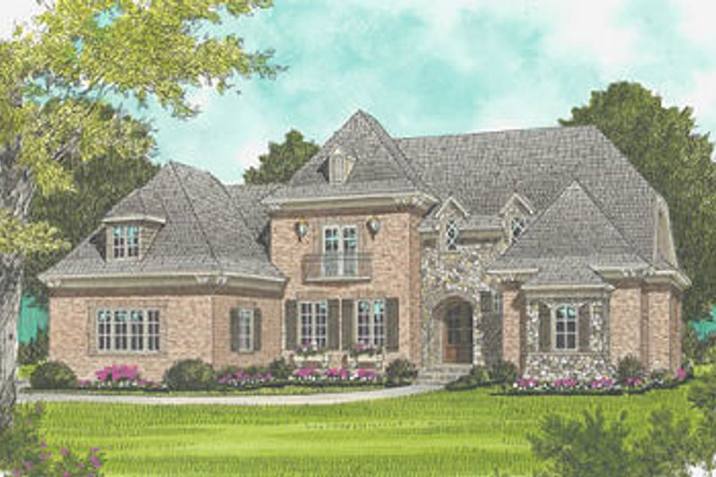 Architectural House Design - European Exterior - Front Elevation Plan #413-121