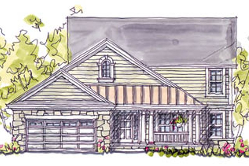 Country Exterior - Front Elevation Plan #20-247