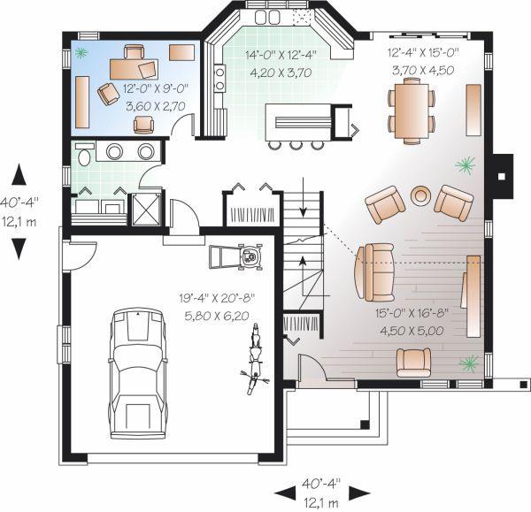 Contemporary Floor Plan - Main Floor Plan Plan #23-723