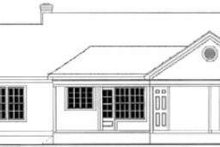 Country Exterior - Rear Elevation Plan #406-248