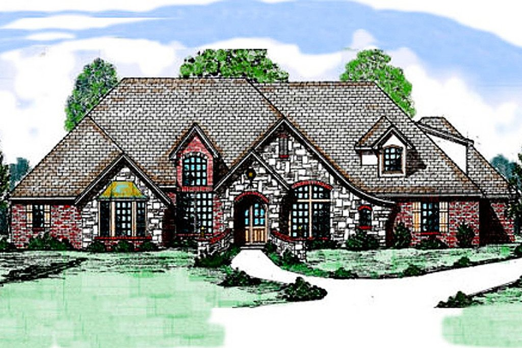 European style house plan 4 beds 3 5 baths 3140 sq ft for Square feet ap style