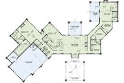 Contemporary Style House Plan - 4 Beds 3.5 Baths 4183 Sq/Ft Plan #17-2551 Floor Plan - Main Floor Plan