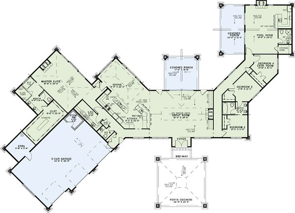 Dream House Plan - Contemporary Floor Plan - Main Floor Plan #17-2551