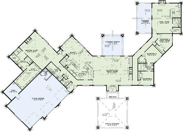 Architectural House Design - Contemporary Floor Plan - Main Floor Plan #17-2551