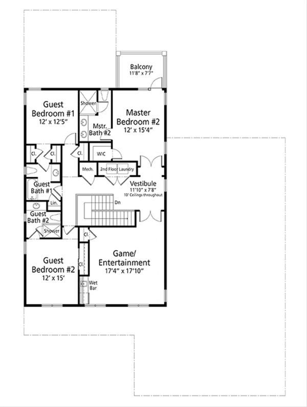 Cottage Floor Plan - Upper Floor Plan Plan #938-89