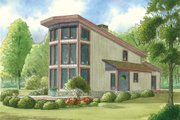 Contemporary Style House Plan - 2 Beds 2 Baths 1098 Sq/Ft Plan #923-6 Exterior - Front Elevation