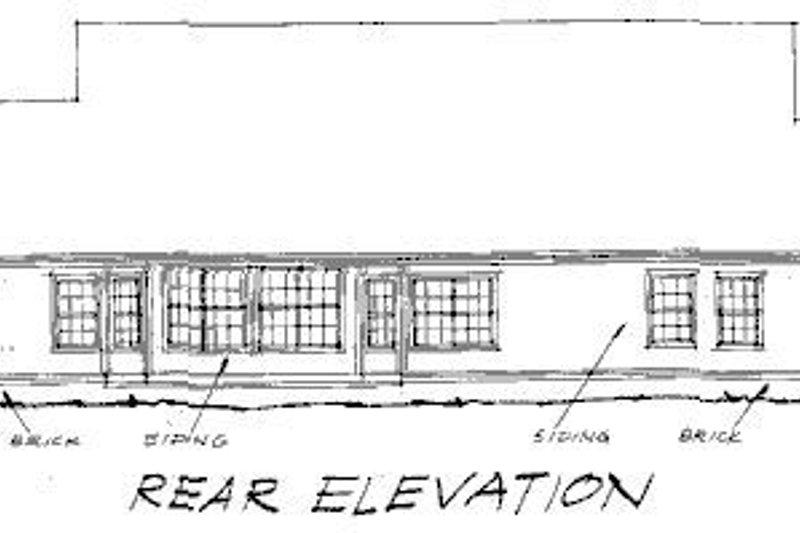 Traditional Exterior - Rear Elevation Plan #20-191 - Houseplans.com