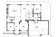 Craftsman Style House Plan - 4 Beds 3.5 Baths 3718 Sq/Ft Plan #320-493 Floor Plan - Main Floor