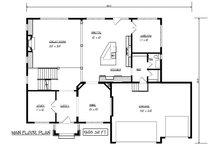 Craftsman Floor Plan - Main Floor Plan Plan #320-493