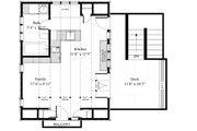 Cottage Style House Plan - 1 Beds 1 Baths 400 Sq/Ft Plan #917-8 Floor Plan - Main Floor Plan