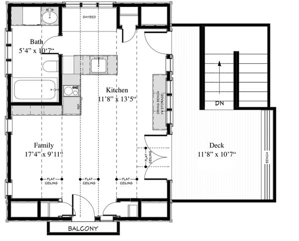 Cottage Floor Plan - Main Floor Plan Plan #917-8