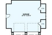 Craftsman Style House Plan - 0 Beds 0 Baths 839 Sq/Ft Plan #17-2579 Floor Plan - Main Floor Plan
