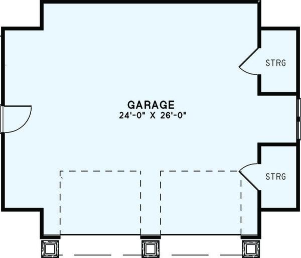 Craftsman Floor Plan - Main Floor Plan Plan #17-2579