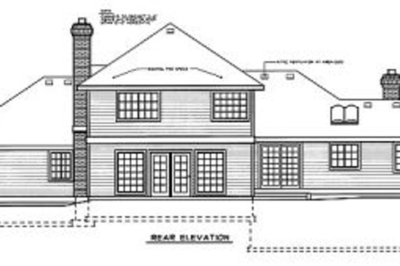Colonial Exterior - Rear Elevation Plan #88-201 - Houseplans.com