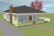 Bungalow Style House Plan - 3 Beds 2 Baths 1353 Sq/Ft Plan #423-55 Photo