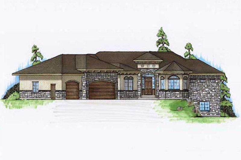 House Plan Design - Mediterranean Exterior - Front Elevation Plan #5-357