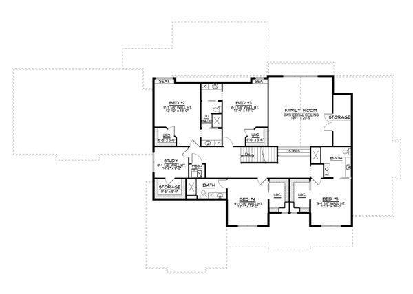 Dream House Plan - Farmhouse Floor Plan - Upper Floor Plan #1064-99