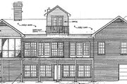 Traditional Style House Plan - 3 Beds 3.5 Baths 4196 Sq/Ft Plan #10-202 Exterior - Rear Elevation