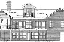 Traditional Exterior - Rear Elevation Plan #10-202