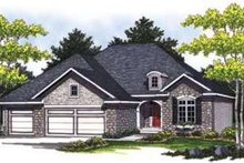 Traditional Exterior - Front Elevation Plan #70-834