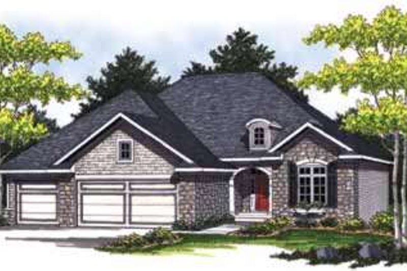 Home Plan - Traditional Exterior - Front Elevation Plan #70-834