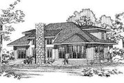 Modern Style House Plan - 3 Beds 2.5 Baths 2208 Sq/Ft Plan #72-140 Exterior - Rear Elevation