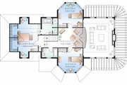 Traditional Style House Plan - 3 Beds 2.5 Baths 2659 Sq/Ft Plan #23-808 Floor Plan - Upper Floor Plan