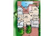 Mediterranean Style House Plan - 5 Beds 4.5 Baths 4198 Sq/Ft Plan #27-355 Floor Plan - Main Floor Plan